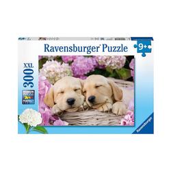 Ravensburger Puzzle Puzzle, 300 Teile XXL, 49x36 cm, Süße Hunde im, Puzzleteile