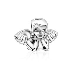 Nenalina Charm-Einhänger Engelskopf Bead Schutz 925 Silber