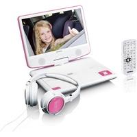Lenco DVP-910 tragbarer DVD-Player Cabrio 22,9 cm (9 Zoll) Schwarz, Pink
