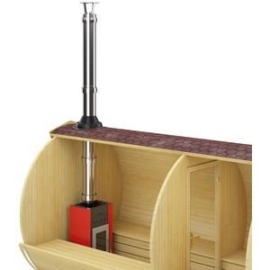Saunaofen Holzsaunaofen mit Schornstein für Faßsauna Gartensauna Sauna