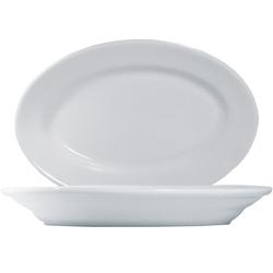 15 x Tivoli Uni Platte oval 23cm * - weiß - Saturnia