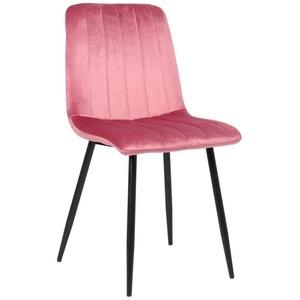 CLP Esszimmerstuhl Dijon, mit Samt oder Stoffbezug rosa