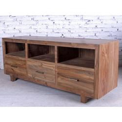 OPIUM OUTLET Lowboard Lowboard aus Teakholz, Sideboard, Kommode, TV-Schrank, TV-Regal, Teakholz massiv, Breite 150 cm, Höhe 60 cm