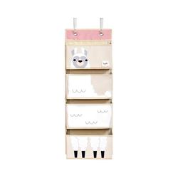 3 Sprouts Aufbewahrungsbox Wandaufbewahrung Bär, 94 x 33 cm weiß