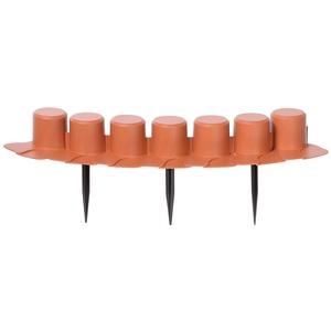 """Prosperplast Rasenkante Beeteinfassung flach mit Kabelführung 4,05 m  """"Palisada"""" (terracotta), Orange"""