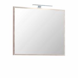 Badspiegel in Buche hell LED Beleuchtung