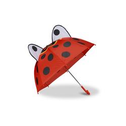 relaxdays Stockregenschirm Kinderregenschirm mit 3D Motiv rot