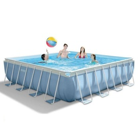 Intex Prism Frame Pool 427 x 427 x 107 cm inkl. GS-Pumpe