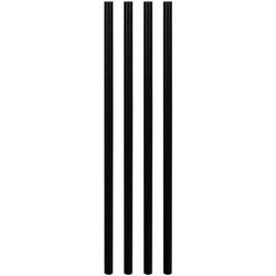 Papiertrinkhalme Trinkhalme aus Papier, dick, schwarz, Ø8mm, 25cm, 50 Stk.