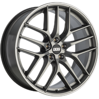 BBS CC-R platinum matt 9.5x19 ET40 - LK5/120 ML82 Alufelge grau