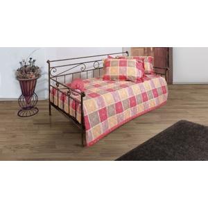 Tagesbett Metall ausziehbar Plata - 80x200 cm - braun