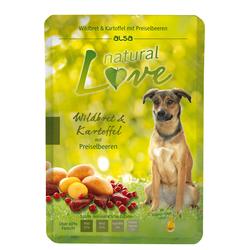alsa natural Love Wildbret & Kartoffel mit Preiselbeeren, 12 x 300 g, Hundefutter