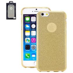 Perlecom Backcover Apple iPhone 6, iPhone 6S Gold, Glitzereffekt