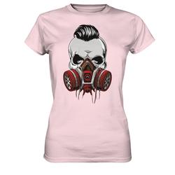 weargo T-Shirt Hipster Skull Totenkopf mit Gasmaske M