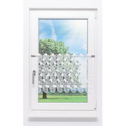 Scheibengardine aus Plauener Spitze - Wolken (Bx H) 80cm * 45cm weiß