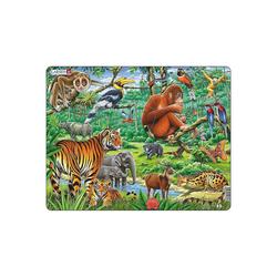 Larsen Puzzle Rahmen-Puzzle, 20 Teile, 36x28 cm, Dschungel, Puzzleteile