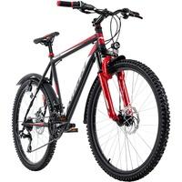 """KS-CYCLING Mountainbike Hardtail 26'' Xtinct schwarz-rot RH 42 cm"""""""