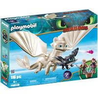 Playmobil Dragons Light Fury mit Babydrachen und Kindern 70038