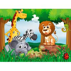 Fototapete Jungle Animals, glatt 3,50 m x 2,60 m
