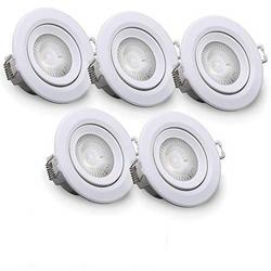B.K.Licht LED Einbauleuchte, LED Einbaustrahler 230V Einbauspots Lampen ultra-flach inkl. 4W 350lm 5er Set