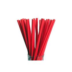 LUXENTU Trinkhalme Papier Trinkhalm Jumbo 100 Stück rot, (100-tlg) rot