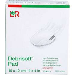 DEBRISOFT Pad 10x10 cm steril 5 St.