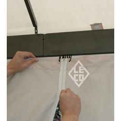 Leco 4er-Set Seitenteile für Kuppeldachpavillon,natur,3,65 x 3,65 m
