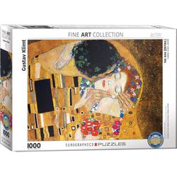 empireposter Puzzle Gustav Klimt - Der Kuss - Detail - 1000 Teile Puzzle im Format 68x48 cm, Puzzleteile