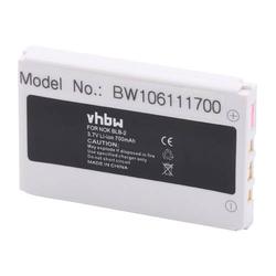 vhbw Akku passend für Holux GPS-Receiver GR-230, GPS-Receiver GR-231 Handy Smartphone Telefon (700mAh, 3,7V, Li-Ion)