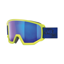 Uvex Skibrille Skibrille athletic FM lime mat dl/blue-blue grün