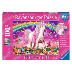 Ravensburger Puzzle Pferdetraum, Glitter-Puzzle, 100 Puzzleteile