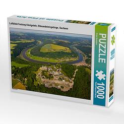 Luftbildd Festung Königstein, Elbsandsteingebirge, Sachsen Lege-Größe 64 x 48 cm Foto-Puzzle Bild von Prime Selection Kalender Puzzle