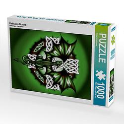 Keltischer Drache Lege-Größe 48 x 64 cm Foto-Puzzle Bild von Pezi Creation Puzzle