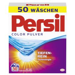 Persil Color Pulver Waschmittel, Colorwaschmittel für leuchtende Farben, 3,25 kg - Packung für ca. 50 Waschladungen