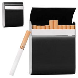 kueatily Aufbewahrungsbox Zigarettenetui, Edelstahl-Zigarettenetui, Zigarettenetui, Zigarettenetui, Zigarettenetui, Zigarettenetui, 20 Standardboxen für Männer, Frauen, Damen, Geschenk, Geschäftsgeschenk., Edelstahl