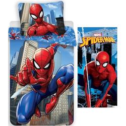 Kinderbettwäsche Marvel´s Spiderman - Wende-Bettwäsche-Set, 135x200 cm und Badetuch, 70x140 cm, Spiderman, 100% Baumwolle