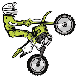 Wandtattoo Motocross Fahrer im Sprung Wandtattoos mehrfarbig Gr. 60 x 60