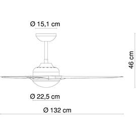 GLOBO Primo 132 cm Deckenventilator silber inkl. Fernbedienung