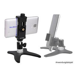 Photecs® Smartphone-Stativ Pro V3-PX, Selfie-Stativ, Handy-Halter, Tisch-Ständer für iPhones, Kameras etc.