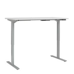 Höhenverstellbarer Schreibtisch in Grau 150 cm breit
