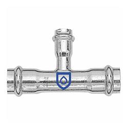 Press-T-Stück 35 - 22 - 35 mm - für Edelstahlrohre - DVGW-zertifiziert - für V-Kontur