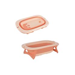 HOMCOM Babywanne Ergonomische Babybadewanne rosa