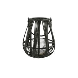Windlicht Bambus ¦ schwarz ¦ Glas , Bambus