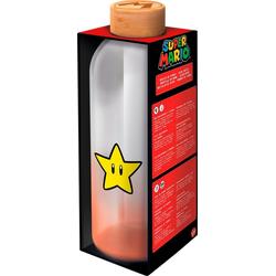 Trinkflasche Super Mario Glasflasche Stern (1030 ml)