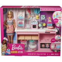 Mattel - Barbie - Tortenbäckerei Spielset mit Puppe blond und Knete