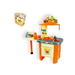 Mochtoys Spielküche Kinderküche 86 cm 10154 Kunststoff, mit Tresen, Spülbecken, Backofen, viel Zubehör