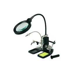 TOOLCRAFT Leuchtlupe A++ LED schwarz