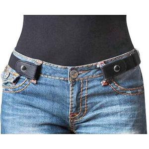 Amorar Gürtel ohne Schnalle Elastischer Unsichtbar Gürtel Buckle-Free Belt Taille Band Stretchgürtel für Damen Herren für Hosen Jeans Uniformen Kleid Taillengürtel