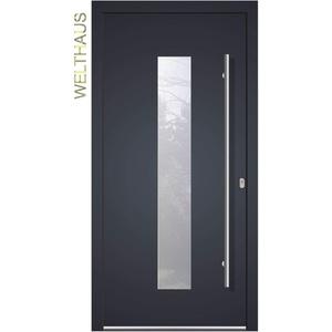 Haustür Welthaus WH75 Standardtür Aluminium mit Kunststoff LA 20 Tür (1100x2100 DIN rechts)