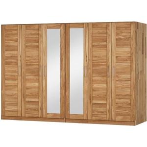 Schlafzimmerschrank aus Wildeiche Massivholz Spiegel
